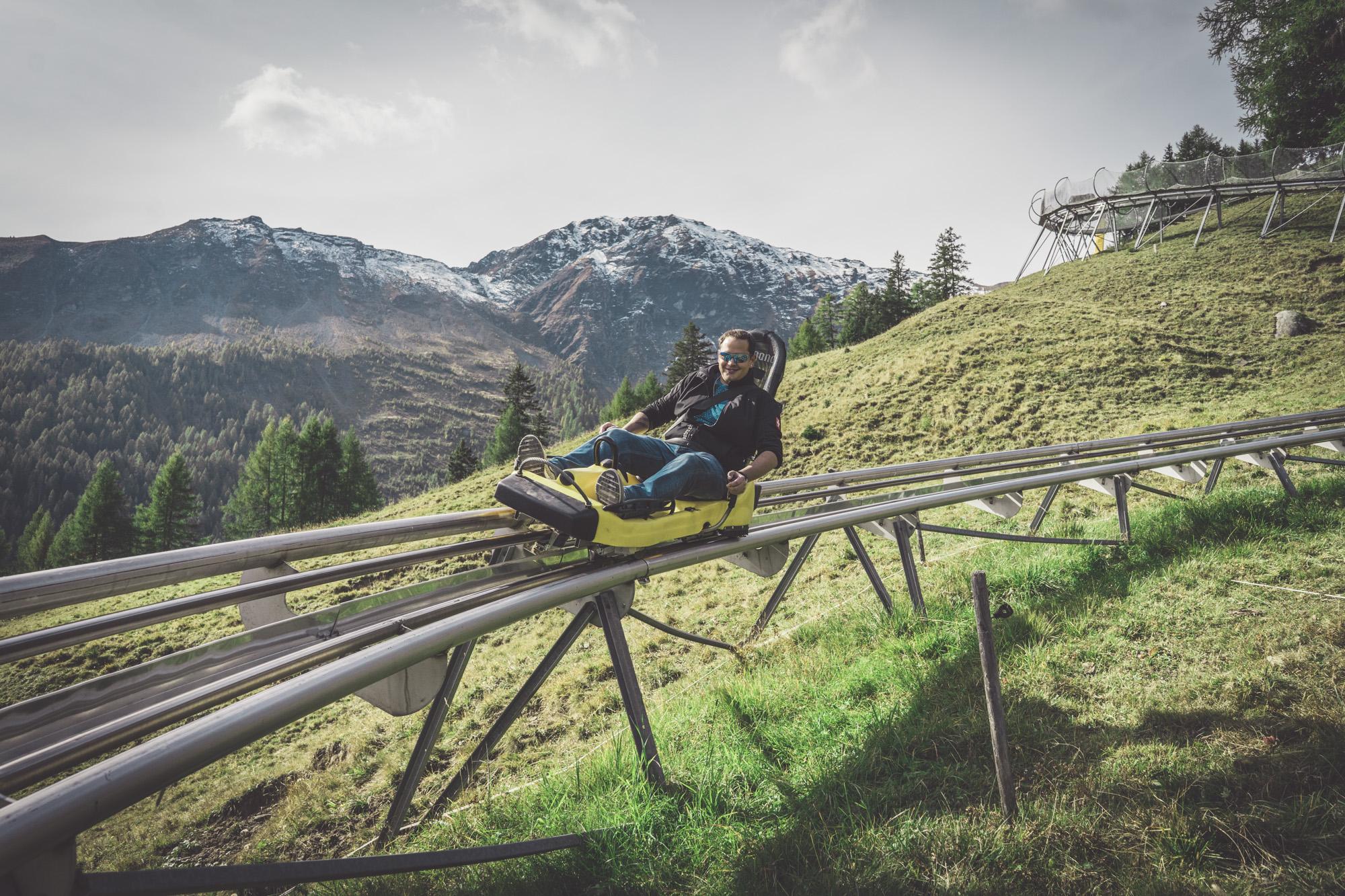 Longest toboggan run in Switzerland | Pradaschier toboggan run